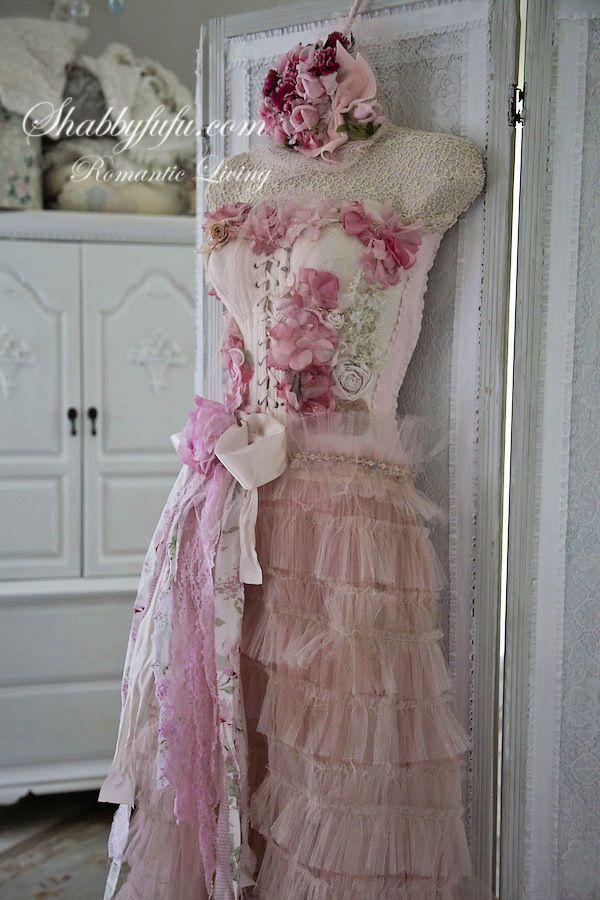 Shabbyfufu Originals HANGING Lady Pink Dress Form Mannequin ...
