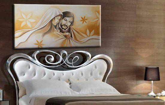 Quadri moderni dipinti a mnao su misura for Sacra famiglia quadri moderni