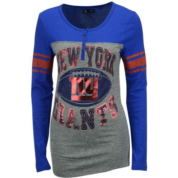 b20635561 5th   Ocean Women s New York Giants Henley T-Shirt ( 38) ❤ liked on ...