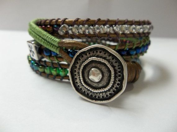 Boho One of a kind ... Inspired Leather by TheCovetedBead, $48.00