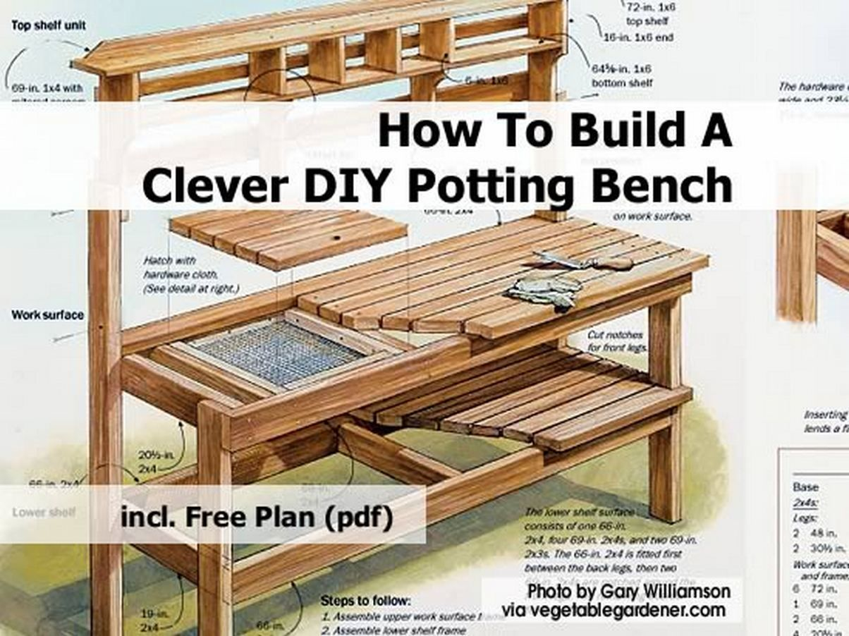 Garden Potting Bench Plans Garden Potting Bench Plans You Have Decided To  Get A Rather Than Buying A Pre Made One It S Going To Be Fun Before You  Decide ...