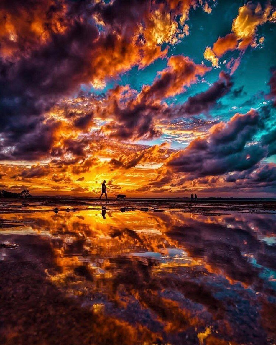 Colors On Instagram Wlak Between Two World Sky Sea Miroire Sunset Clound Colors Intensse A M Nature Pictures Landscape Photography Nature Photography
