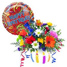 Image result for happy birthday cake flowers balloons Birthday