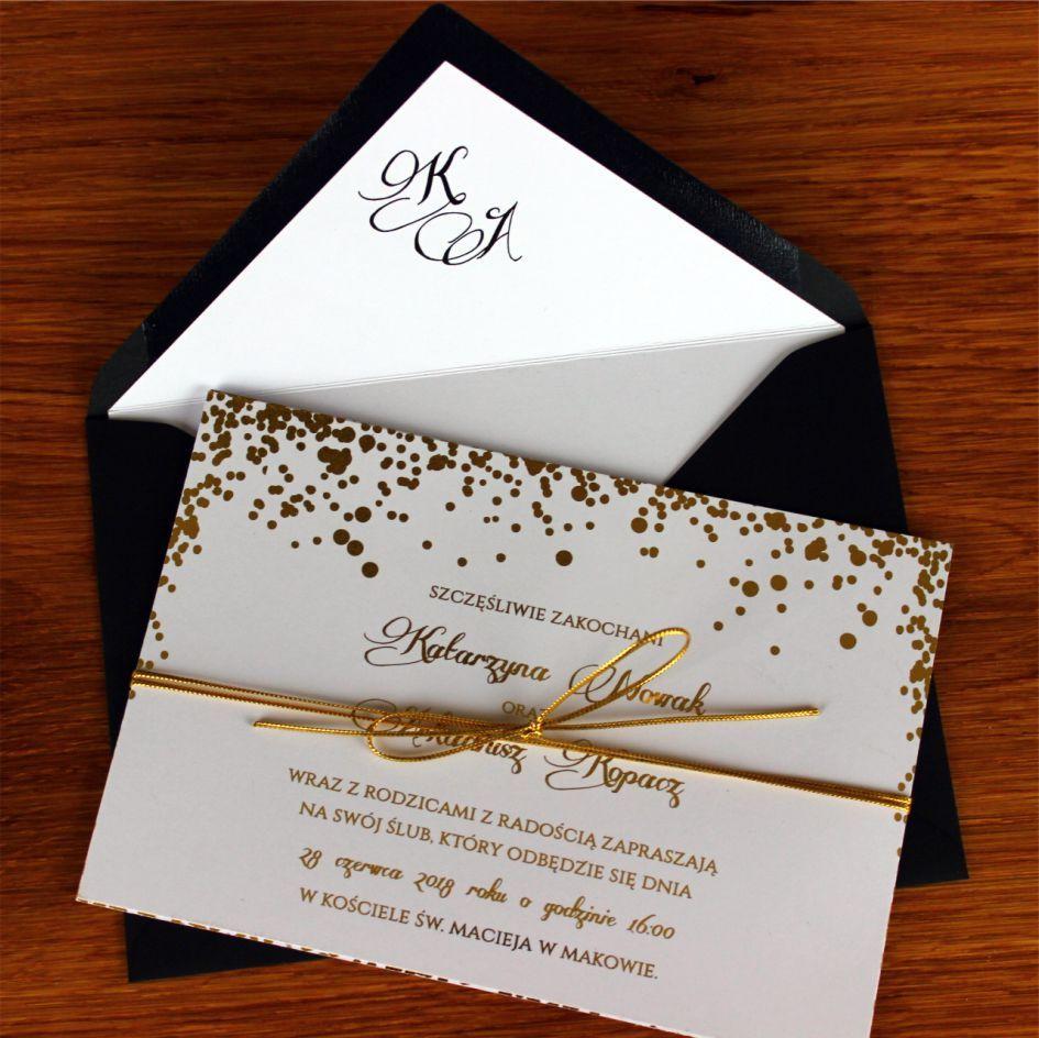 Pin By La Bamba On Zaproszenia Slubne Gift Wrapping Gifts Gold