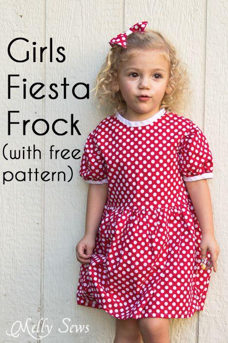 Free Girls Dress Pattern - Minnie Mouse Birthday | Patrón gratis ...