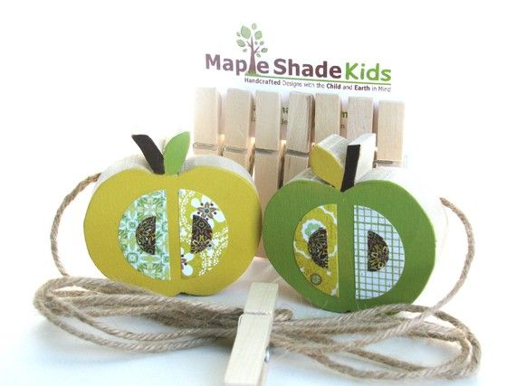 September Must-Haves: Apple Themed Product Picks for Mom and Baby  - Apple At Display Clips by Maple Shade Kids