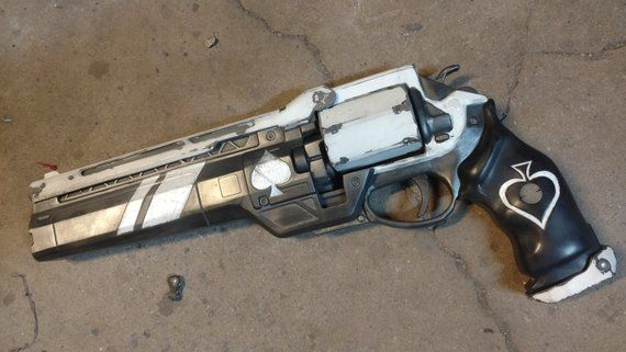Destiny 2 Ace of Spades exotic handcannon life size finished | Etsy