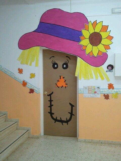 Puerta oto o puertas para el aula pinterest oto o - Decoracion puerta otono ...