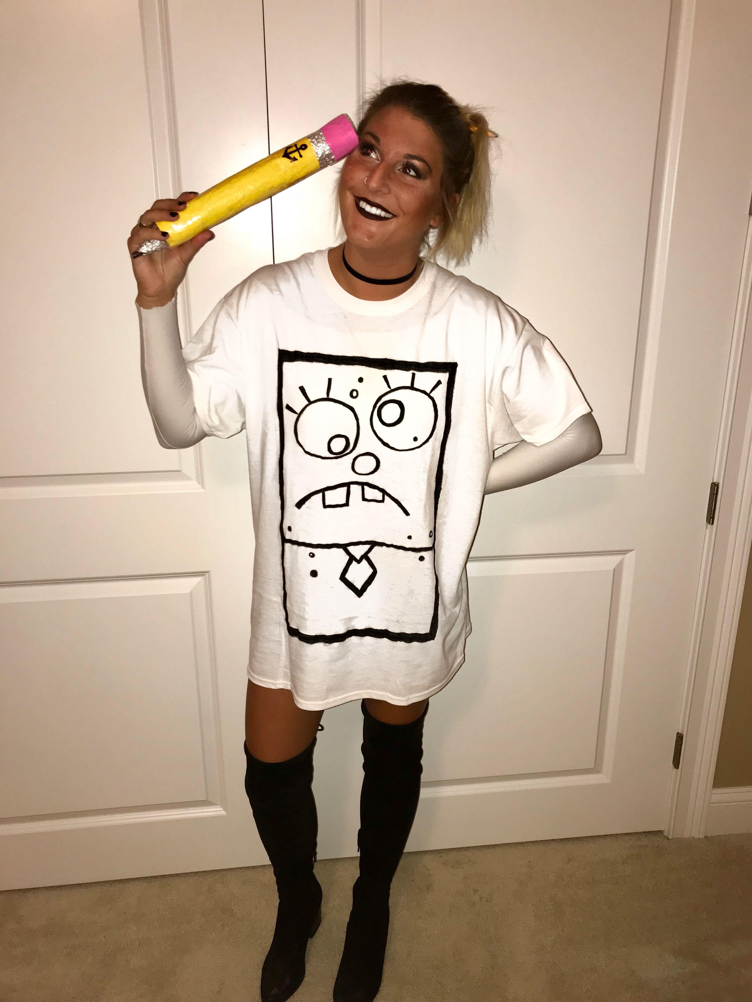 Halloween- doodlebob costume #funnyhalloweencostumes