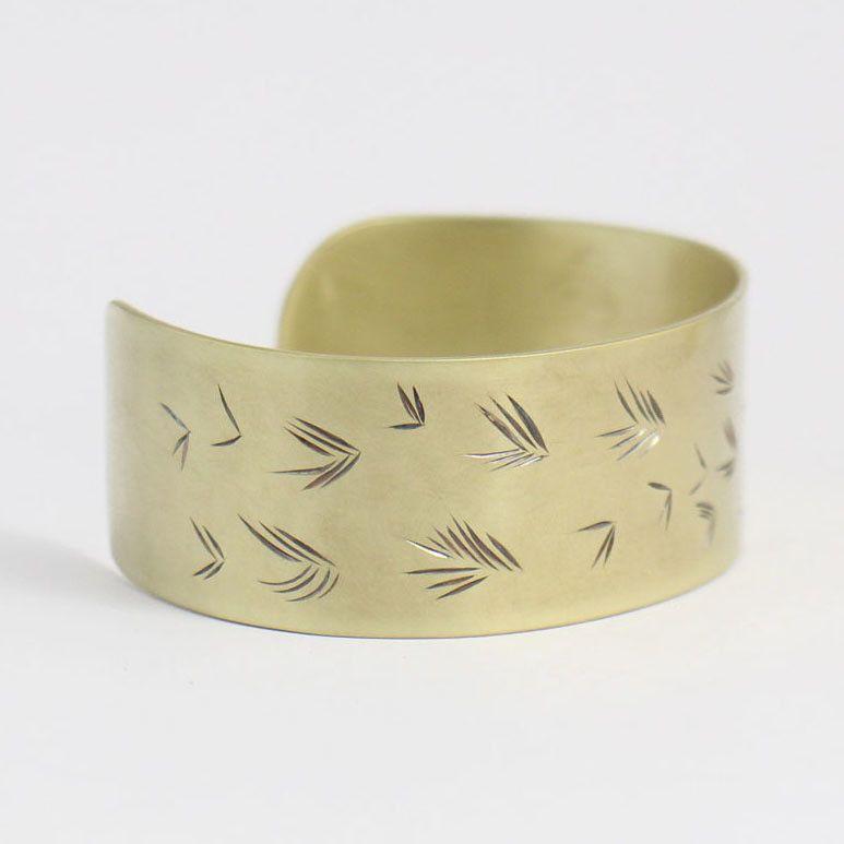 Petals Brass Cuff