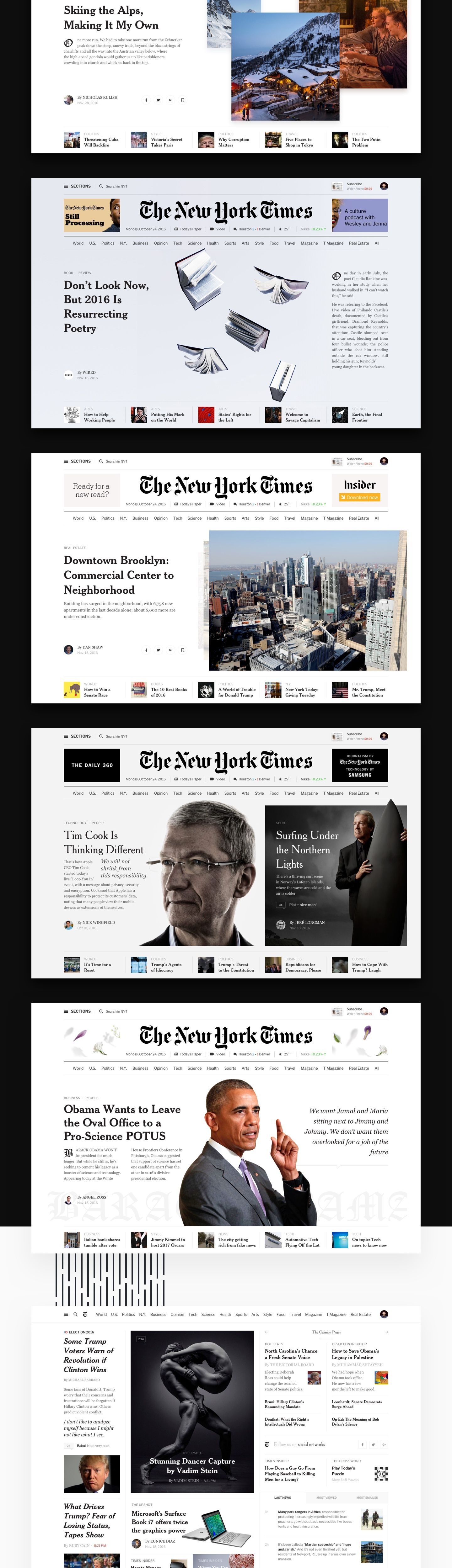 Editorial Design The New York Times Redesign Concept Editorial Design News Web Design Web Layout Design