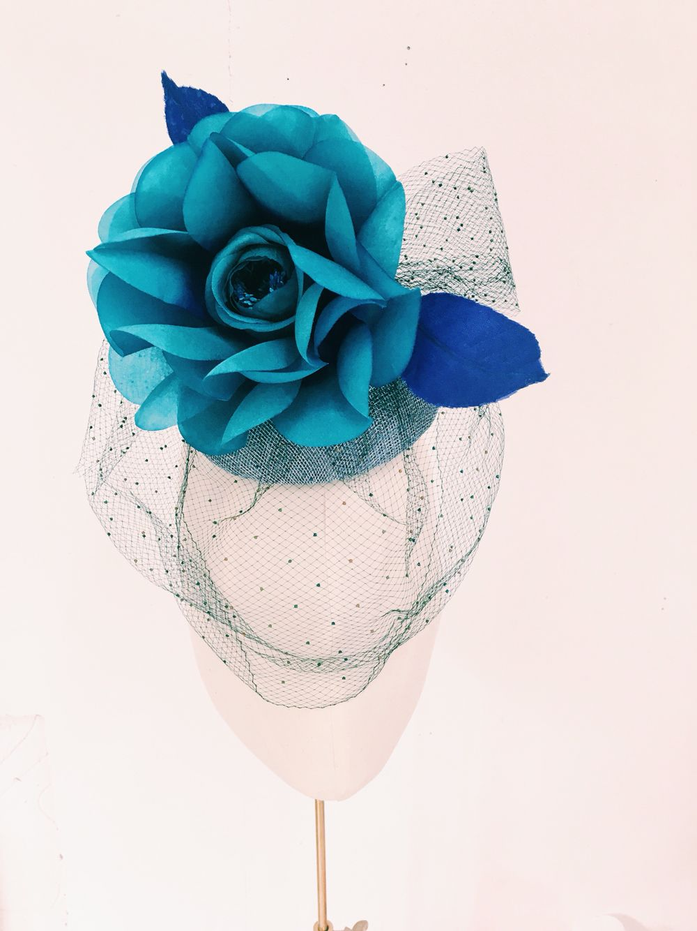 Cecile Millinery Cocktail Hat Silk Flower Is Hand Dyed And Handmade
