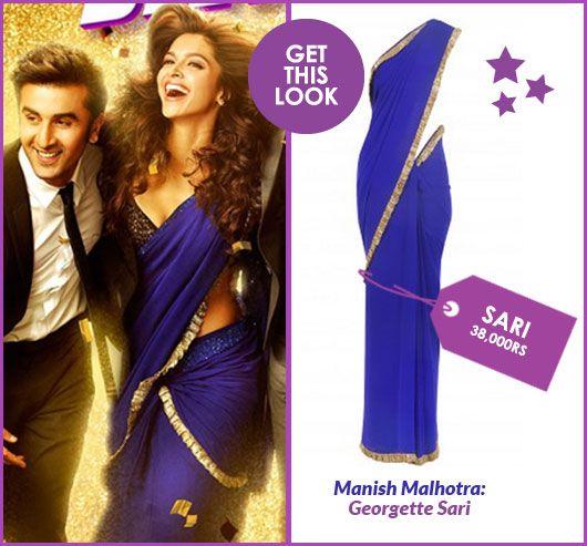 Get This Look Deepika Padukone S Yeh Jawaani Hai Deewani Saris Missmalini Deepika Padukone Saree Bollywood Saree Lengha Dress