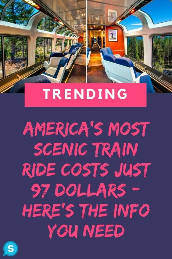 This incredible train ride across America should be on bucket lists everywhere. It costs just $97, and you'll be able to see some of the most beautiful sites the United States has to offer. If you love travel, you will love this scenic train ride. This train vacation will give you a new appreciation for just how amazing the U.S.A is! #travelling #traveltuesday #traveltips #vacation #vacationtips #amtrak #traintravel #unitedstates #americathebeautiful