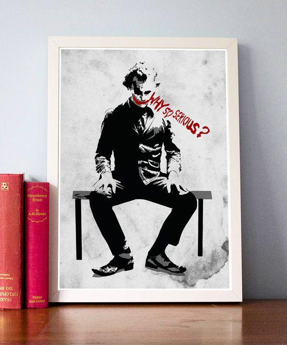 Joker Batman Dark Knight Why So Serious Poster / Print by onlyarts, $17.90