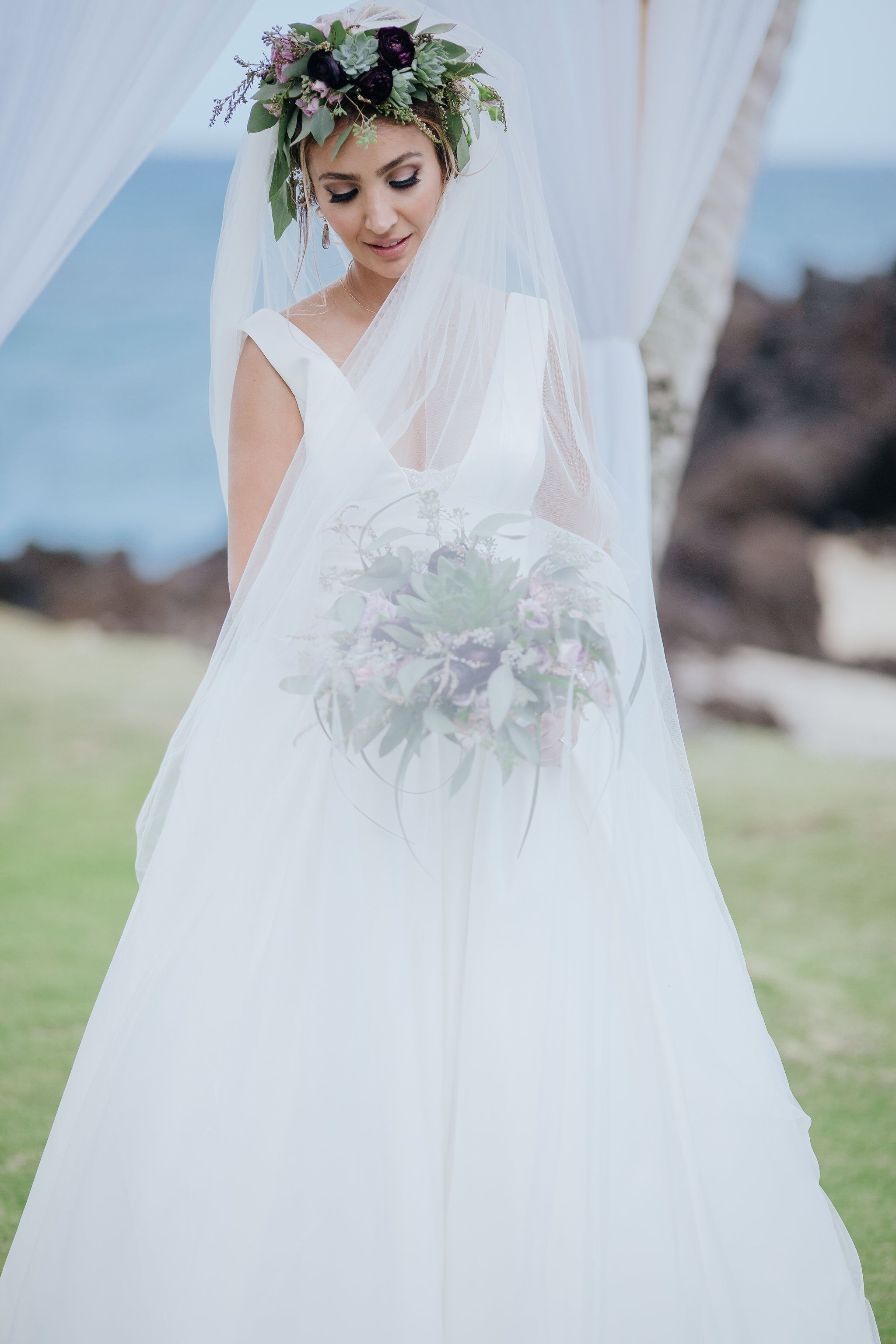 Morning wedding dresses  Hoda u Tarek said their ucI Dousud in a private and intimate wedding