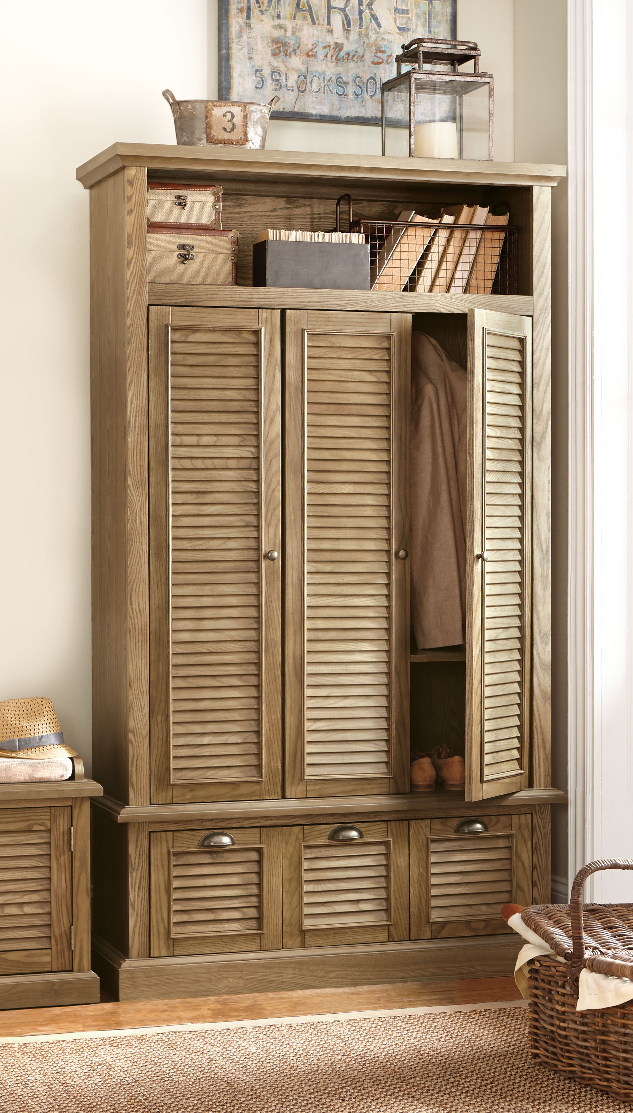 entryway storage locker furniture. Add Functionality To Your Entryway By Choosing This Home Decorators Collection Shutter Triple Door Closed Locker Storage In Polar White. Furniture A