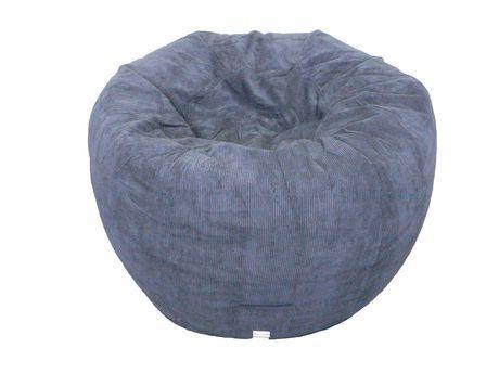 Wondrous Boscoman Jumbo Navy Corduroy Round Beanbag Chair Products Machost Co Dining Chair Design Ideas Machostcouk