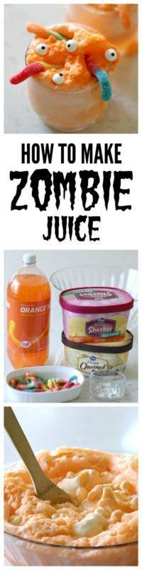 How To Make Zombie Juice Halloween parties, Juice and Halloween ideas - halloween drink ideas for kids