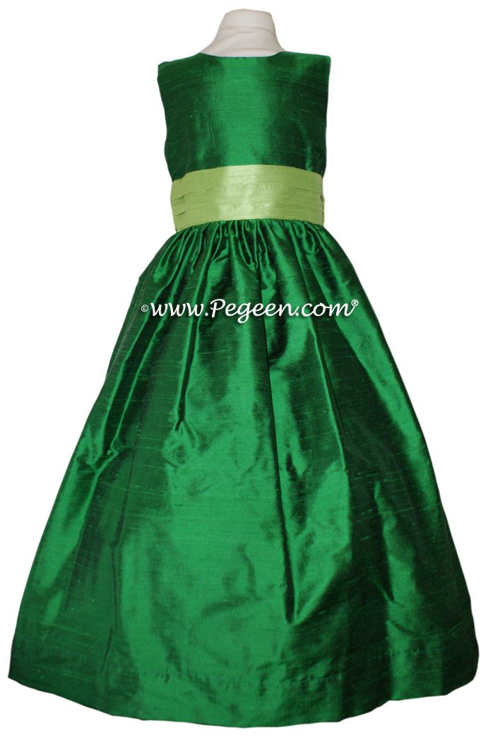 Emerald Green And Jasmine Flower Dresses Style 398 By Pegeen Children S