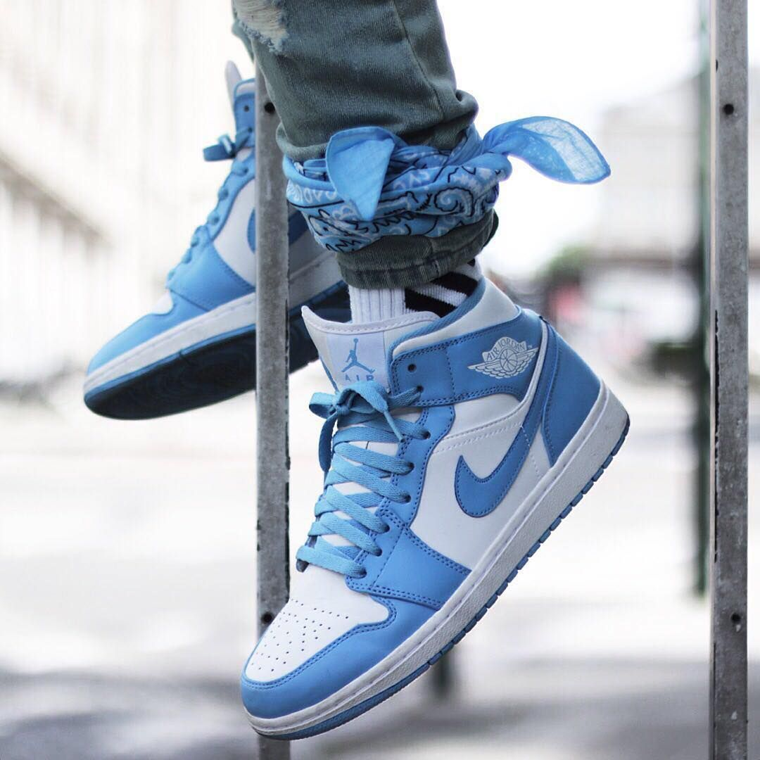 Air Jordan 1 Mid UNC Follow Sneaker Heads for more
