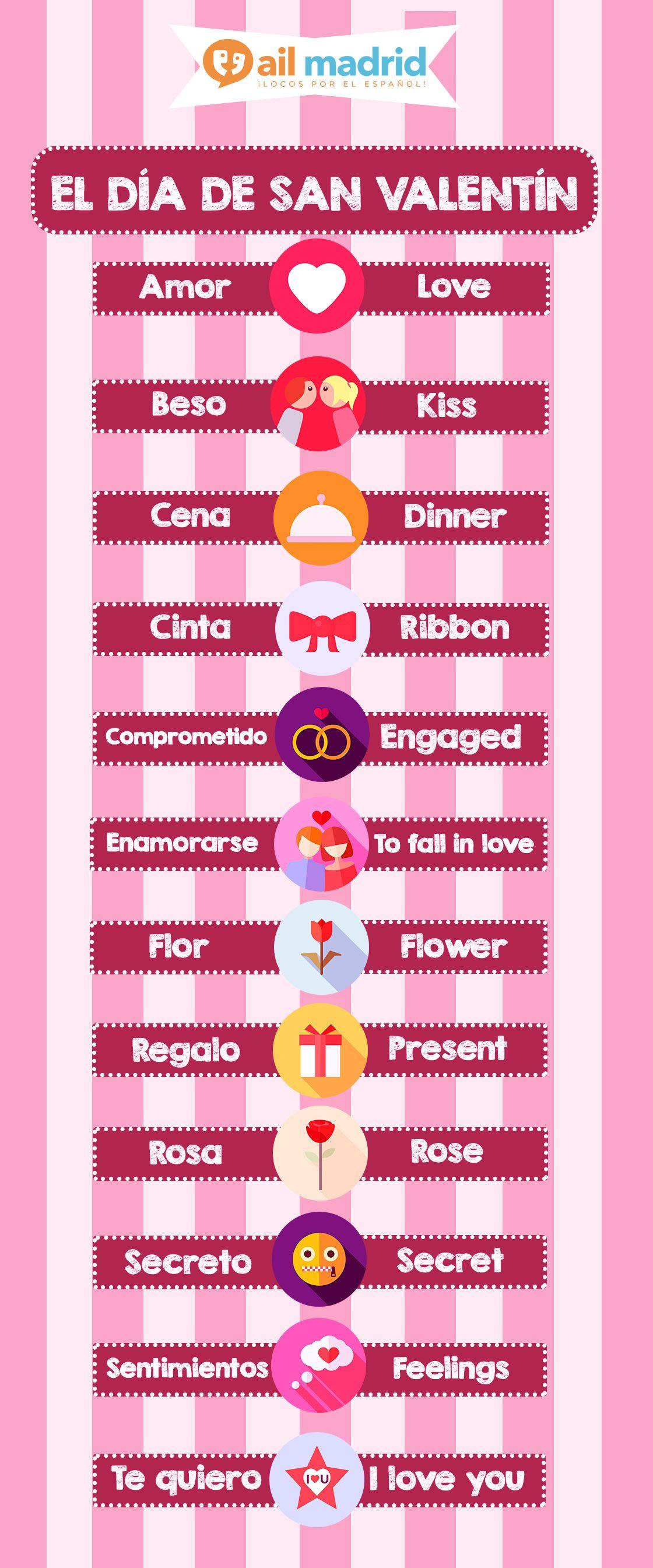 Valentinesday Vocab Vocabulario De Diadesanvalentin