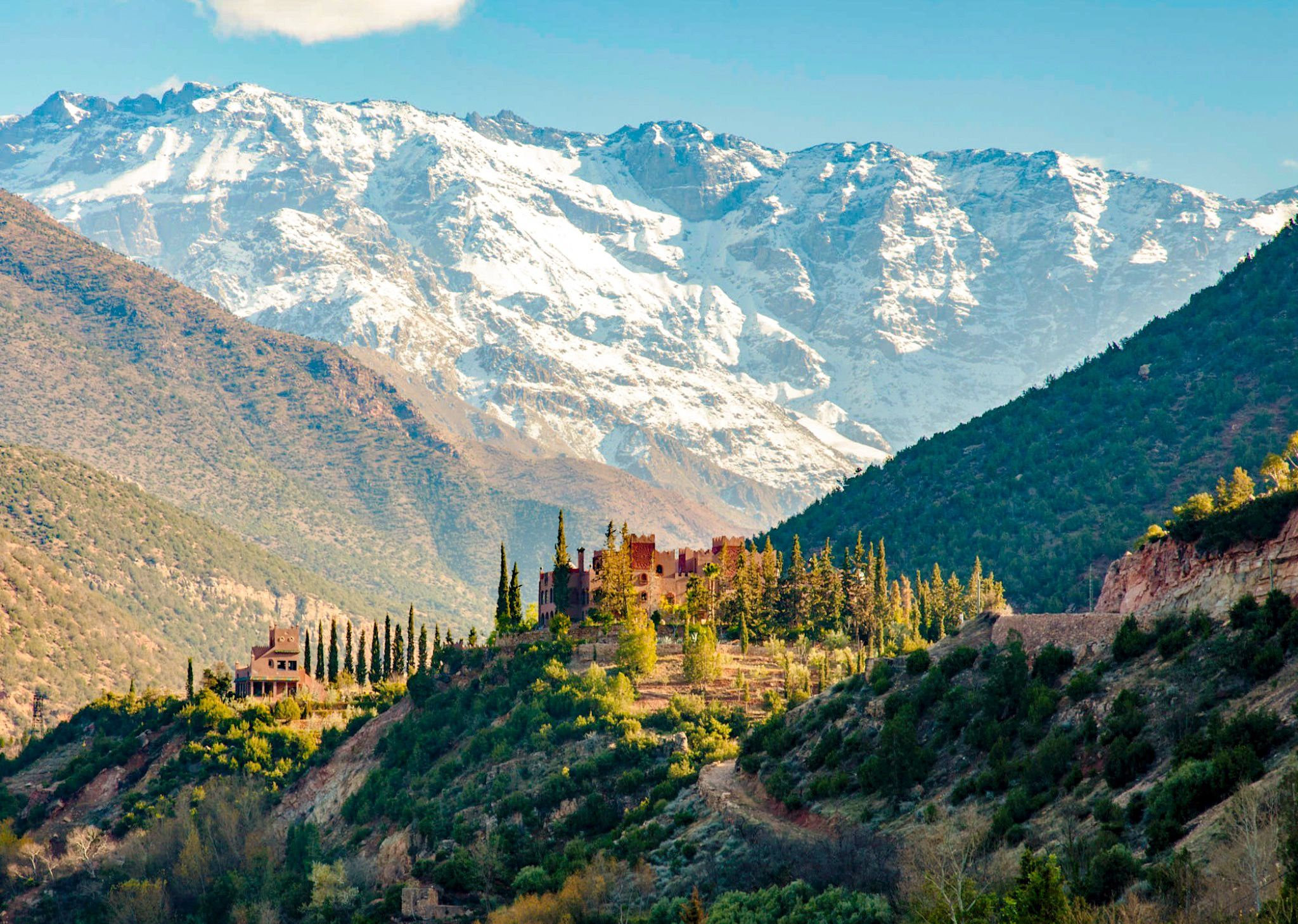 ***Kasbah Tamadot (Atlas Mountains, Morocco) by John Rickwood