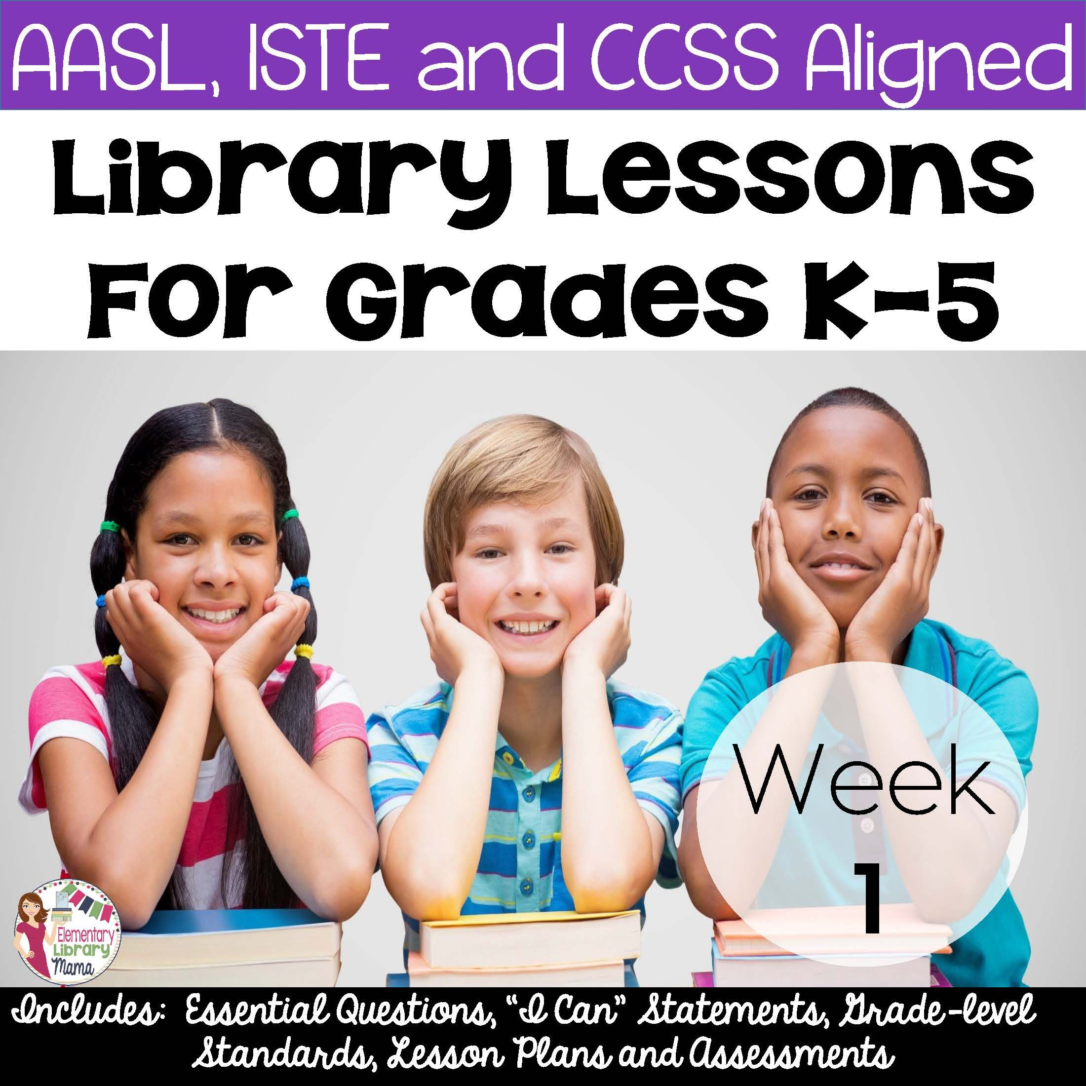 Free Library Lessons For The First Week Of School K 5