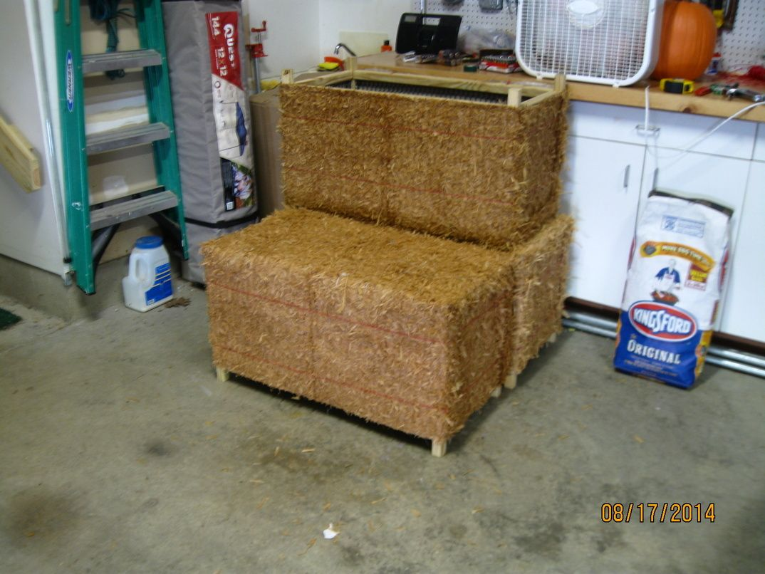 Fake Hay Bales Using Raffia Mats From Joseph M Stern Co