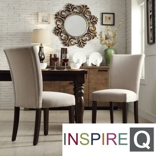 Parson Light Grey Fabric Side Chairs (Set of 2) | Overstock.com Shopping - The Best Deals on Dining Chairs