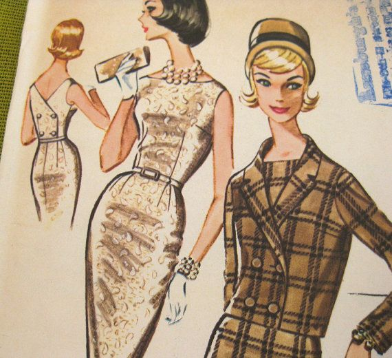 Vintage 1960 Sewing Pattern  Dress  Bombshell by SelvedgeShop, $14.00