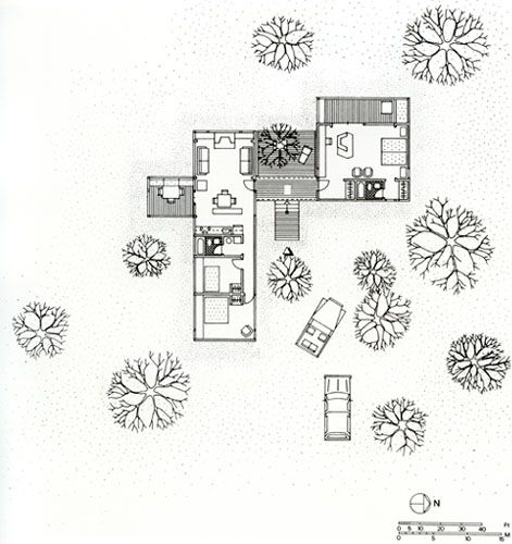 Marcel breuer long plan prototype house cape cod for Prototype house plan