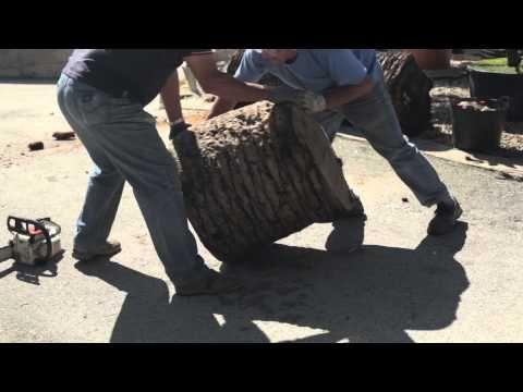 Como hacer una jardinera de madera o macetero con un tronco - como hacer una jardinera