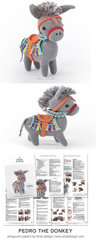 Best Amigurumi Donkey Free Patterns | Crochet amigurumi, Crochet ... | 1500x600