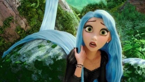 Blue Haired Princess Disney Prinses Prinses Sprookjes