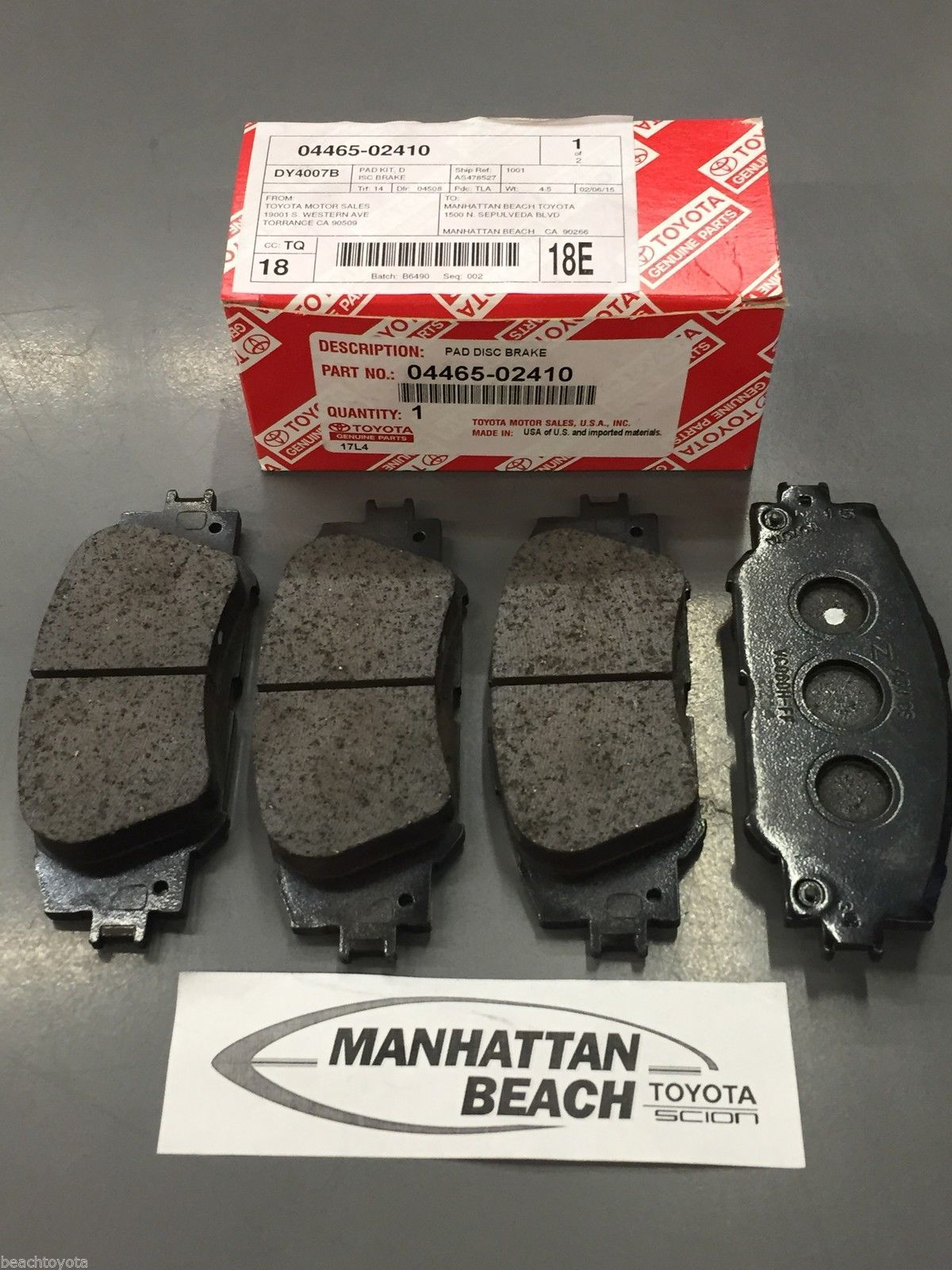 Cool great 2014 2016 corolla front brake pads new genuine toyota oem cool great 2014 2016 corolla front brake pads new genuine toyota oem 04465 02410 fandeluxe Images