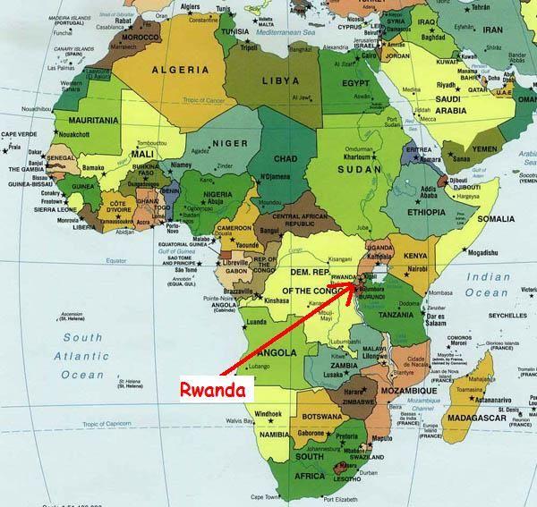 Carte Afrique Rwanda.Le Rwanda Se Situe Au Sud Est De L Afrique Genocide Au
