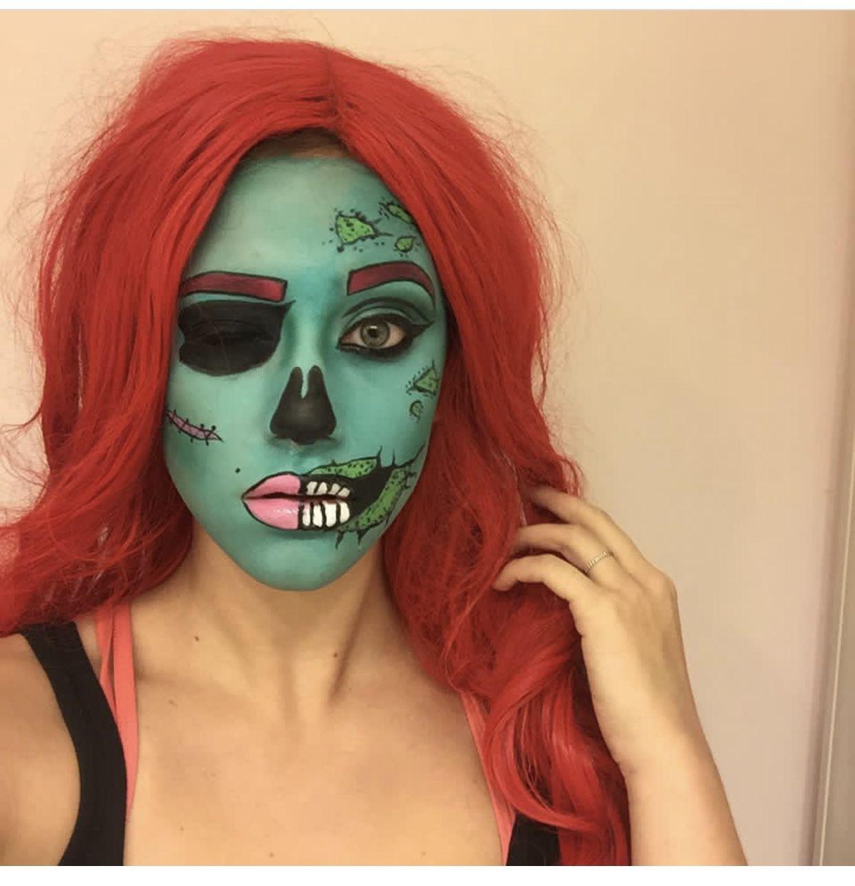 Pop Art Zombie Special Fx Makeup Fx Makeup Special Effects Makeup