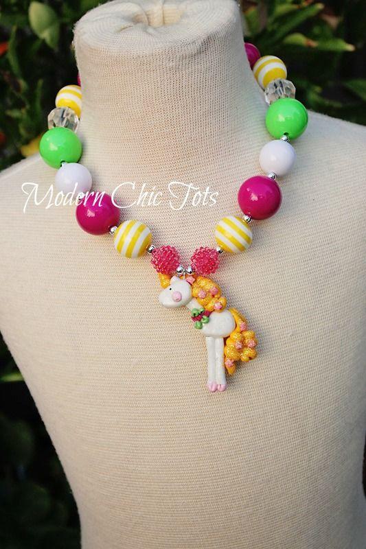 Last one!  Unicorn girl's necklace