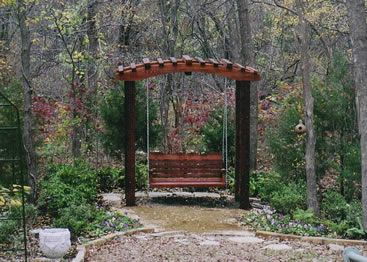 Japanese pergola swing posts 4 x4 top 7 39 wide 4 39 deep for Japanese garden trellis designs