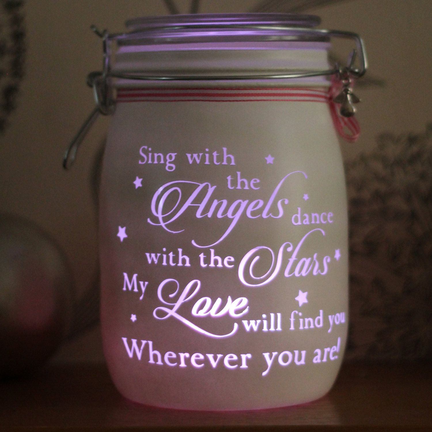 Sing with the angels Mason Jar