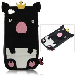 New Arrival Personalized 3D Cute Pig Pattern Fabulous Case Cover for iPhone 4/ 4S - Black $5