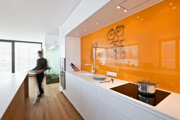 Cuisine couleur orange pour un décor moderne et énergisant Cuisine