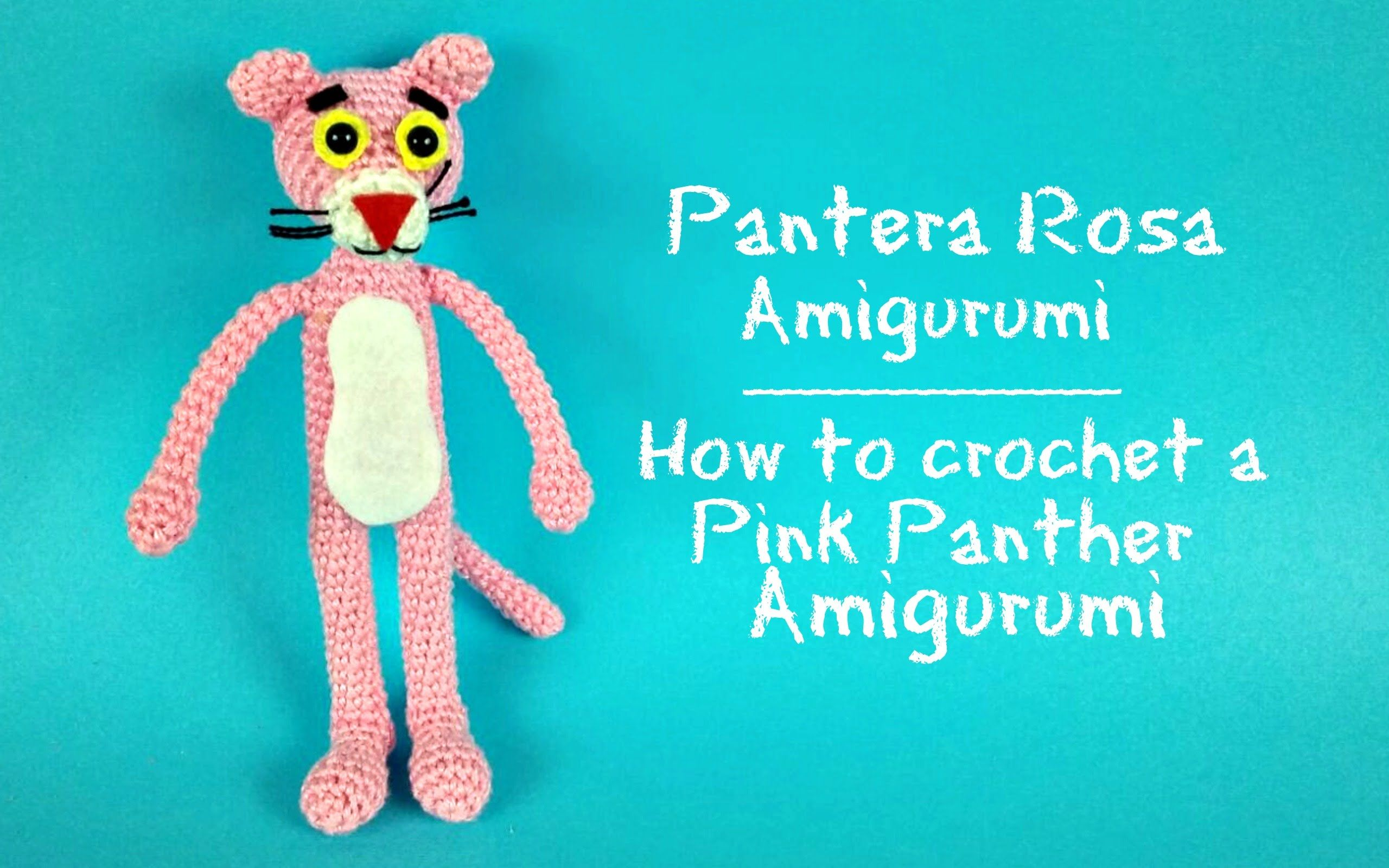 Pantera Rosa Amigurumi   How to crochet a Pink Panther Amigurumi ...
