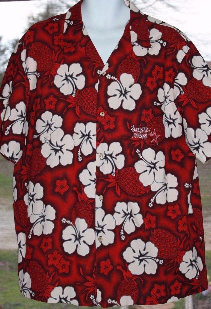 bb2544a8b RJC Red & White Hibiscus Floral Vintage Houston Astros XXL Hawaiian Shirt  2XL #RJC #Hawaiian