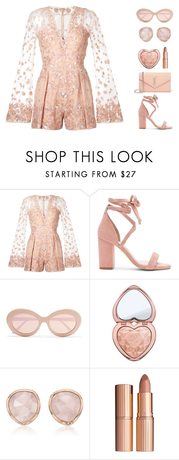 """Untitled #352"" by ctpyp ❤ liked on Polyvore featuring Zuhair Murad, Raye, Sunday Somewhere, Too Faced Cosmetics, Monica Vinader, Charlotte Tilbury, Yves Saint Laurent, Pink, contestentry and palepink"