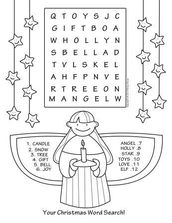 your christmas word search part of a five page set of activity coloring pages for your oh so excited kids