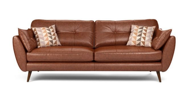 Zinc Leather 4 Seater Sofa Dfs 1795