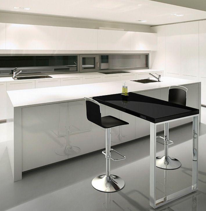 barra-de-cocina-moderna3.jpg | Cocinas | Pinterest | Barras de ...