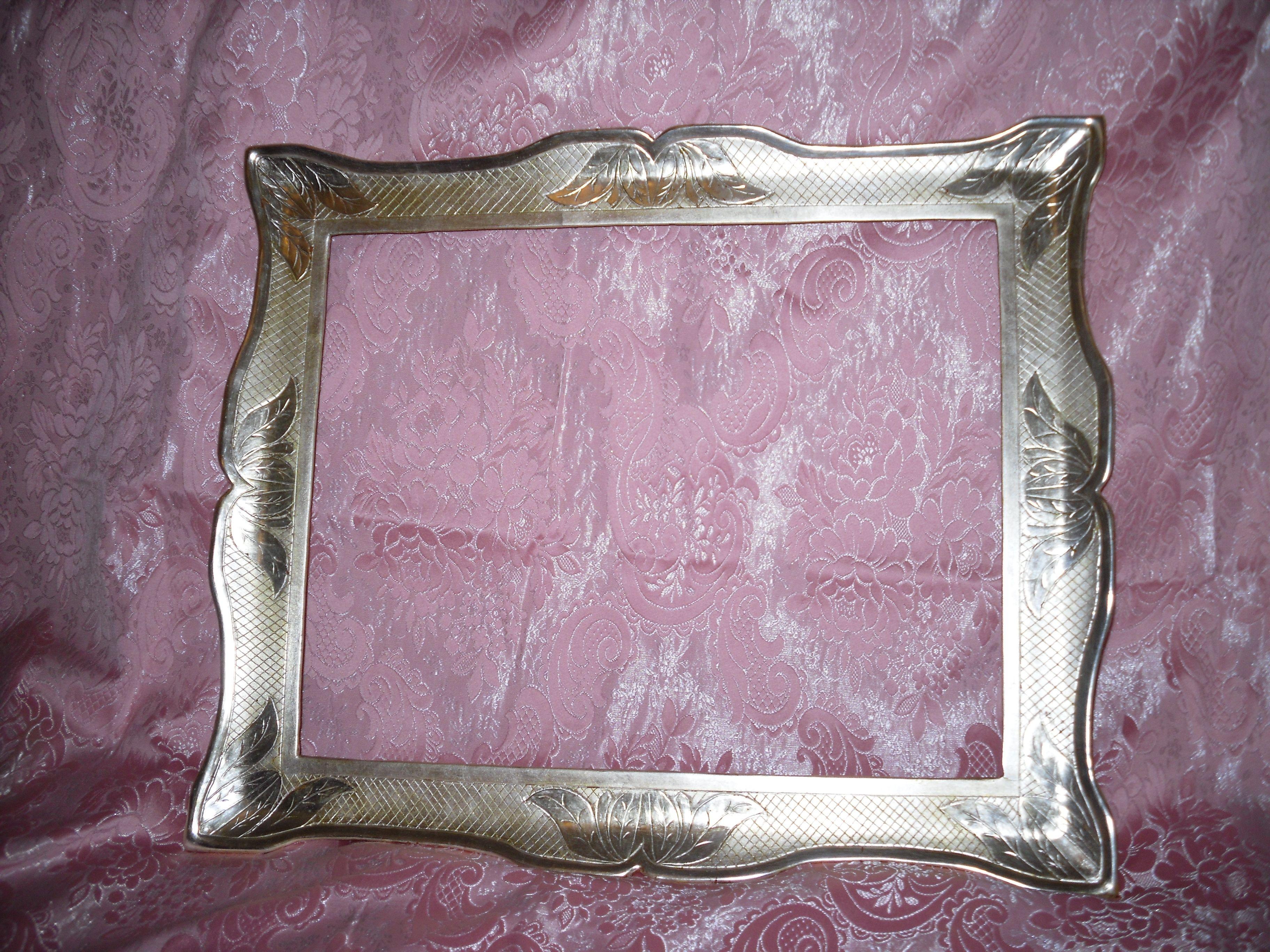 Cornice in argento meccato cornici in stile pinterest for Cornice adesiva per pareti